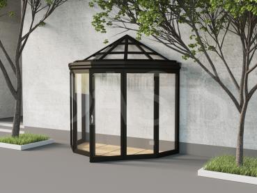 проект зимнего сада, пятискатный сегментный эркерный